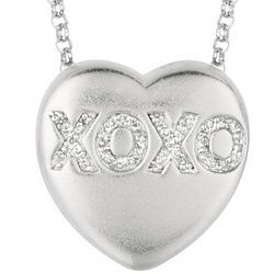 Diamond Heart XOXO Sweethearts Necklace