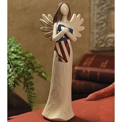 Angel Figurine with American Flag