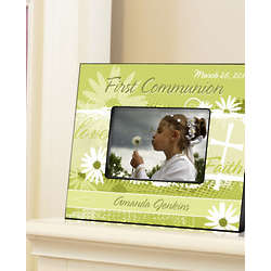 Personalized Delicate Daisy First Communion Picture Frame