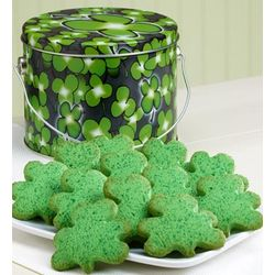 Shamrock Butter Cookies Gift Tin