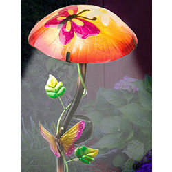 Hand-Painted Solar Mushroom Stake