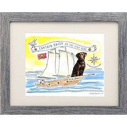 Picture Your Pet Captain Framed Print