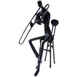 Brass Trombonist Figurine