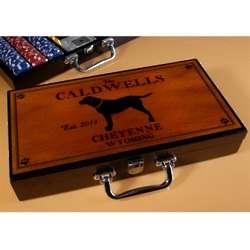 Personalized Labrador Poker Set