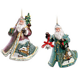 Rejoice in the Season and Gifts of Good Cheer Ornament Set