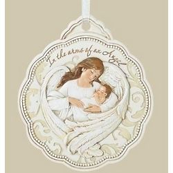 Baby in Angel Wings Crib Medal