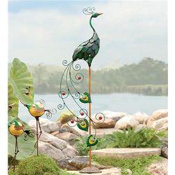Iron Peacock Garden Statue