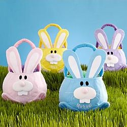 Personalized Plush Cottontail Bunny Basket