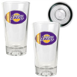 NBA Oval Logo Pint Ale Glass Set