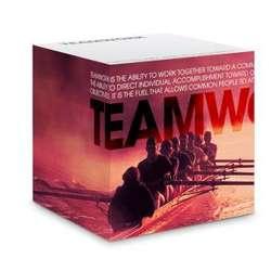 Teamwork Rowers Self-Stick Note Cube
