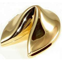 Gold Plated Fortune Cookie