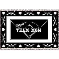 Personalized Team Mom Softball Afghan