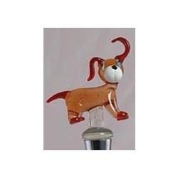 Handblown Glass Dog Bottle Stopper