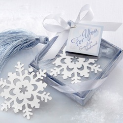 Snowflake Bookmark Holiday Party Favor