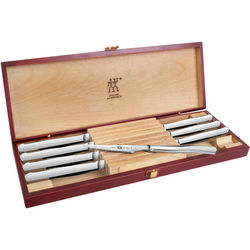 8 Piece Serrated Steak Stainless Steel Knife Set with Case