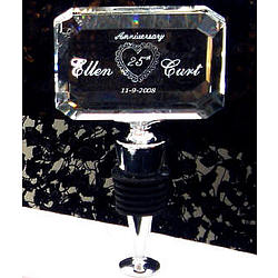 Personalized Crystal Anniversary Bottle Stopper