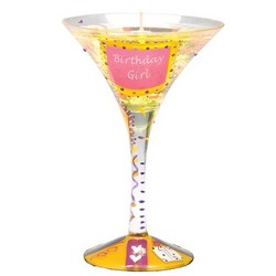 Birthday Girl Martini Gel Candle