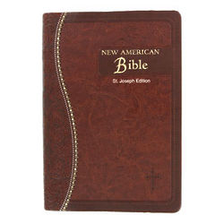 St. Joseph Edition Faux Leather Bible in Brown