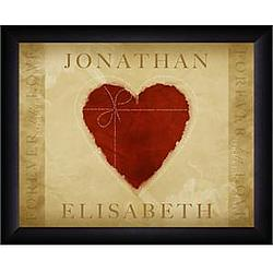 Personalized Loving Heart Framed Print