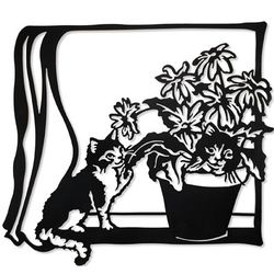 Cats in Window Wall Art
