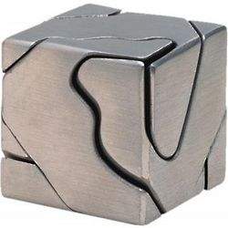 Curly Cube Metal Brain Teaser Puzzle