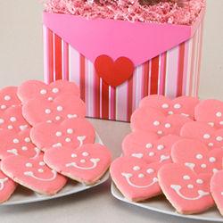 Two Dozen Smiling Sweetheart Cookies Gift Basket