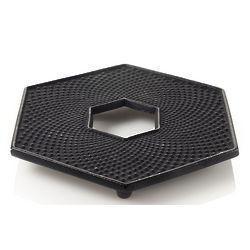 Black Hexagon Cast Iron Trivet