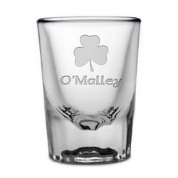 Personalized Irish Shamrock Shot Glass