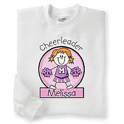Youth's Personalized Cheerleader Sweatshirt