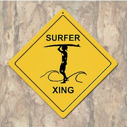 Female Yellow Surfer X-ing Sign