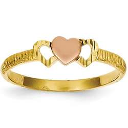 14K Triple Hearts Promise Ring