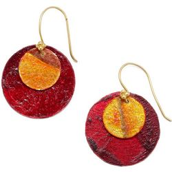 Handcrafted Vegetable Parchment Earrings