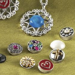 10 Interchangeable Charms Pendant