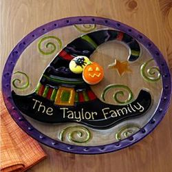 Personalized Witch Glass Serving Plate