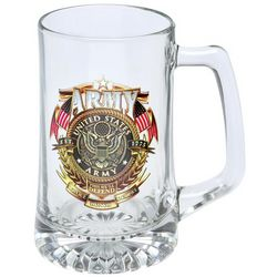 Army Military Glass Tankard