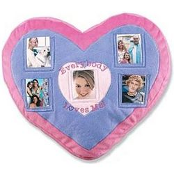 Talking Heart Photo Pillow