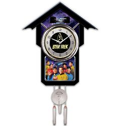 Star Trek Cuckoo Clock with Sound and Motion