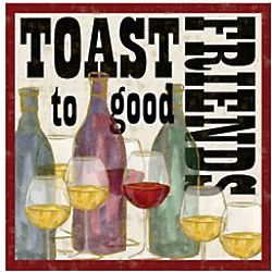 Toast To Good Friends Coasters