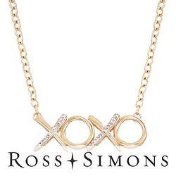 Diamond XO Necklace