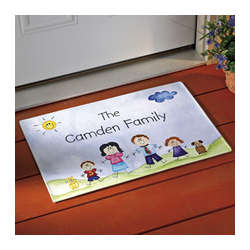 Family of Characters Doormat