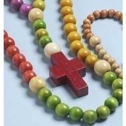 Children's Wood Bead Rosary
