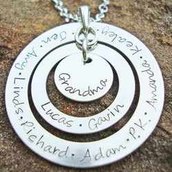 Eternal Love Hand Stamped Sterling Silver Necklace