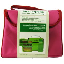 Lunchopolis Lunch Box with Food Containers in Pink