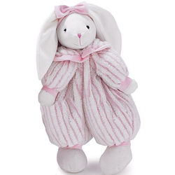 Personalized Medium Flossy Rabbit in Pink