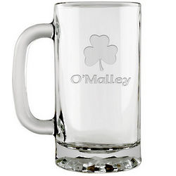 Personalized Irish Shamrock Beer Mug