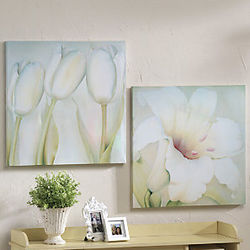 Set of 2 Floral Canvases