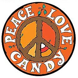 Peace, Love, Candy Magnet