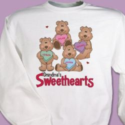 Candy Sweetheart Bears Valentine Sweatshirt