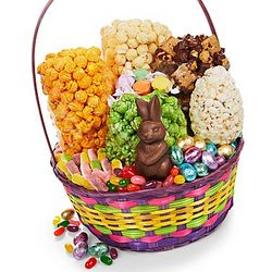 Classic Easter Candy and Popcorn Basket