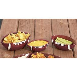 Ceramic Football Serving Bowls